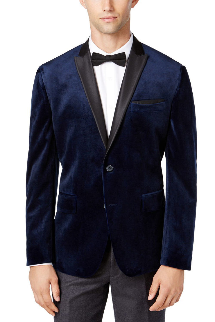 Cotton Velvet Blue Blazers