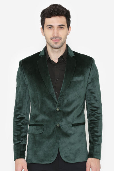 Cotton Velvet Green Blazers