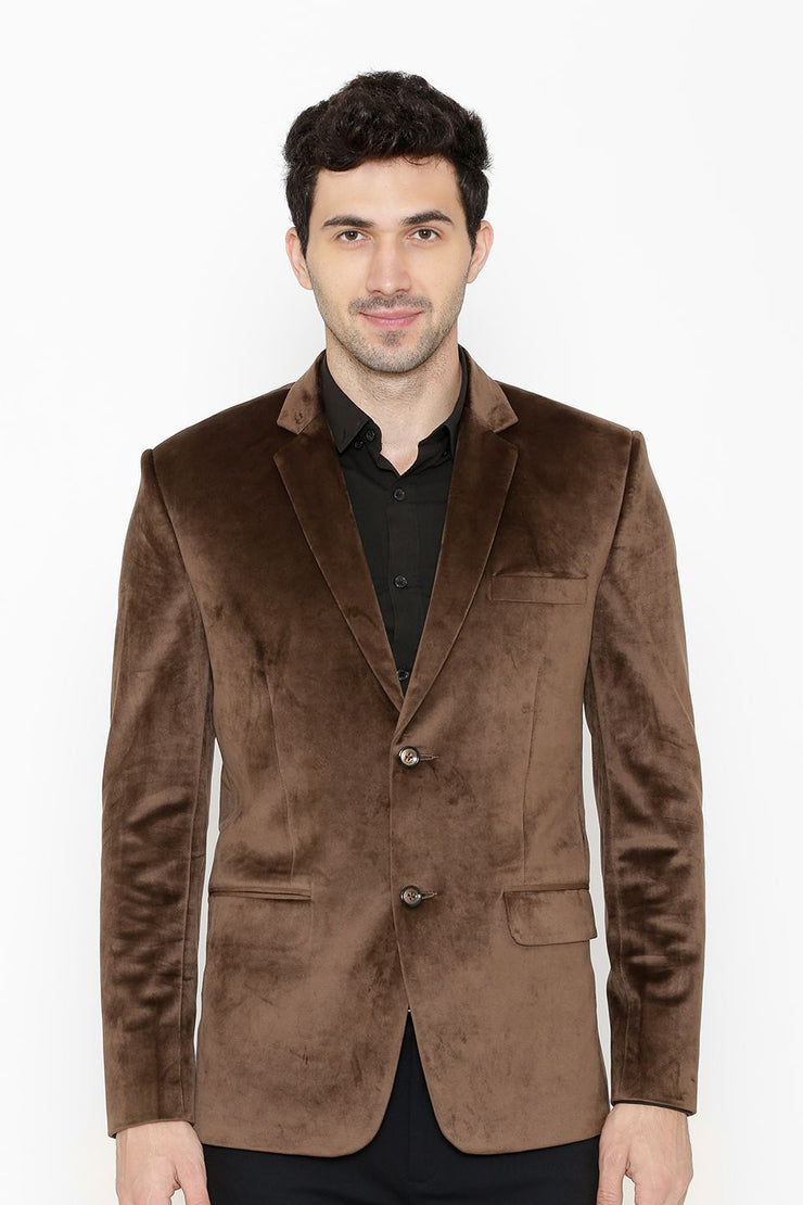 Cotton Velvet Brown Blazers