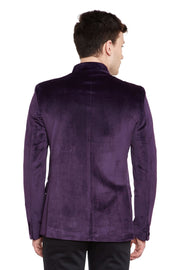 Dust-Free Cotton Velvet Purple Bandhgala