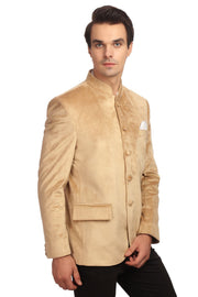Dust-Free Cotton Velvet Gold Bandhgala