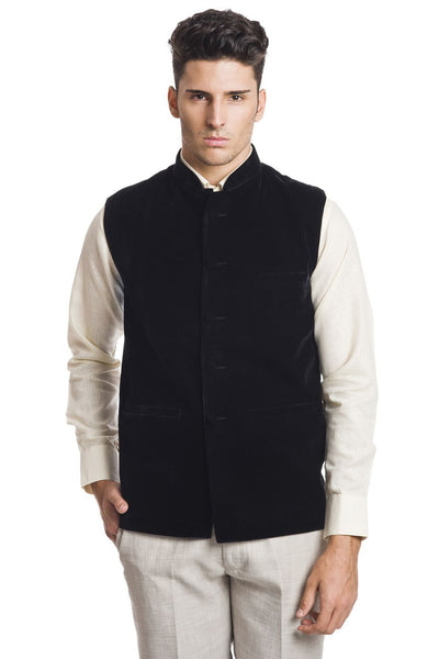 Velvet Black Nehru Jacket