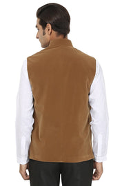 Velvet Brown Nehru Jacket