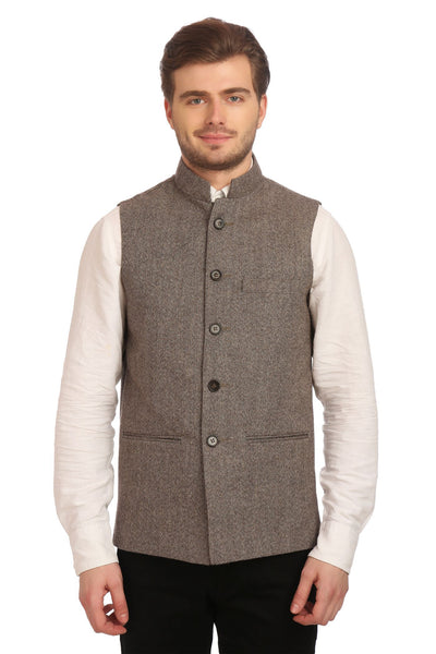 Tweed Grey Modi Nehru Jacket