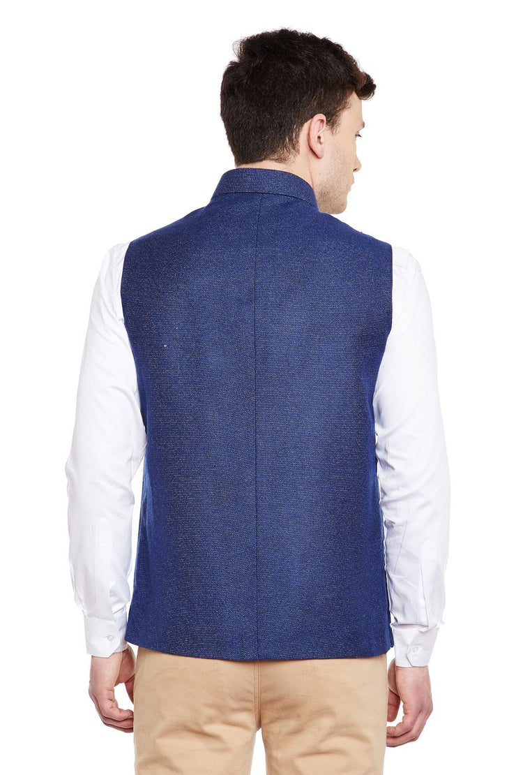 Tweed Blue Modi Nehru Jacket