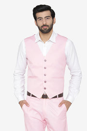 Polyester Cotton Pink Waist Coat