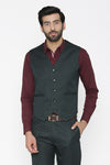 Polyester Cotton Green Waist Coat