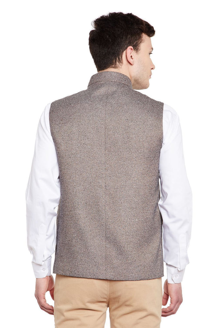 Imported Rayon Brown Nehru Jacket