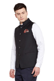 Imported Rayon Black Nehru Jacket