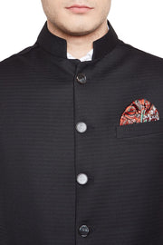Imported Rayon Black Modi Nehru Jacket