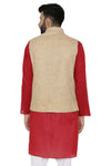 Men's Khadi Tailored Fit Party / Festive Nehru Jacket