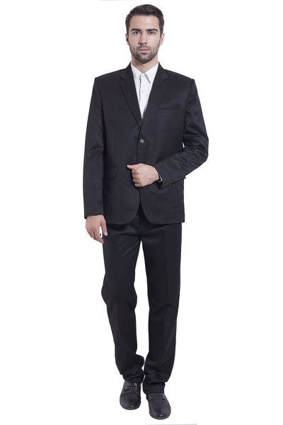 Poly Viscose Black Suit