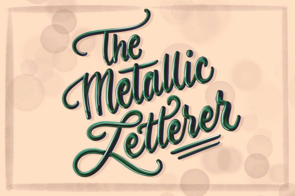 Procreate Brush - The Metallic Letterer