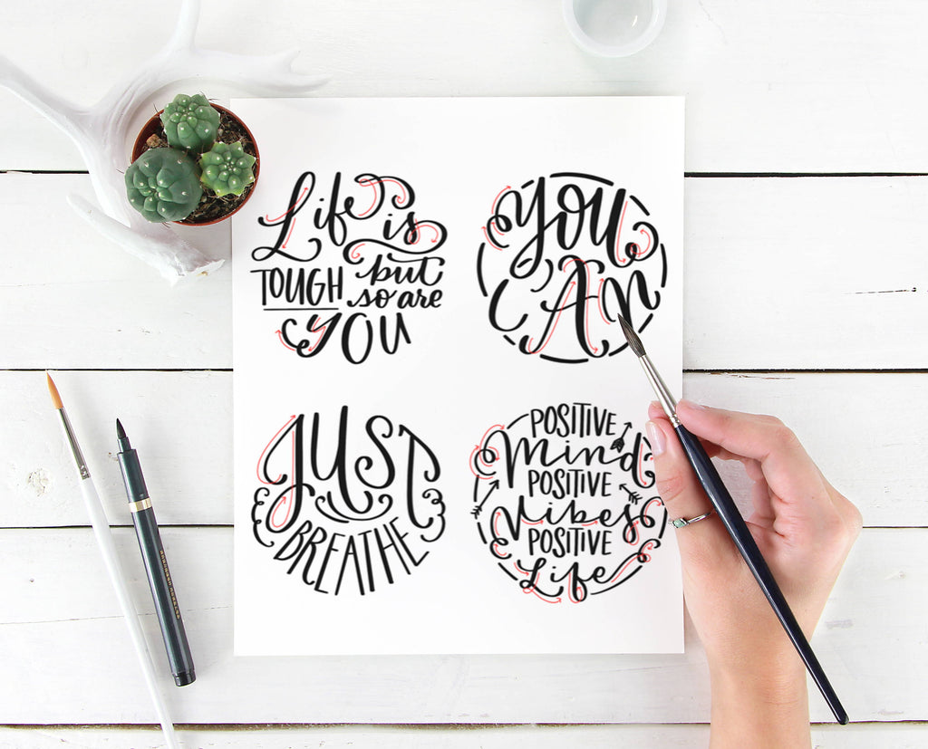 Free DIY Lettering Quote Practice Sheet