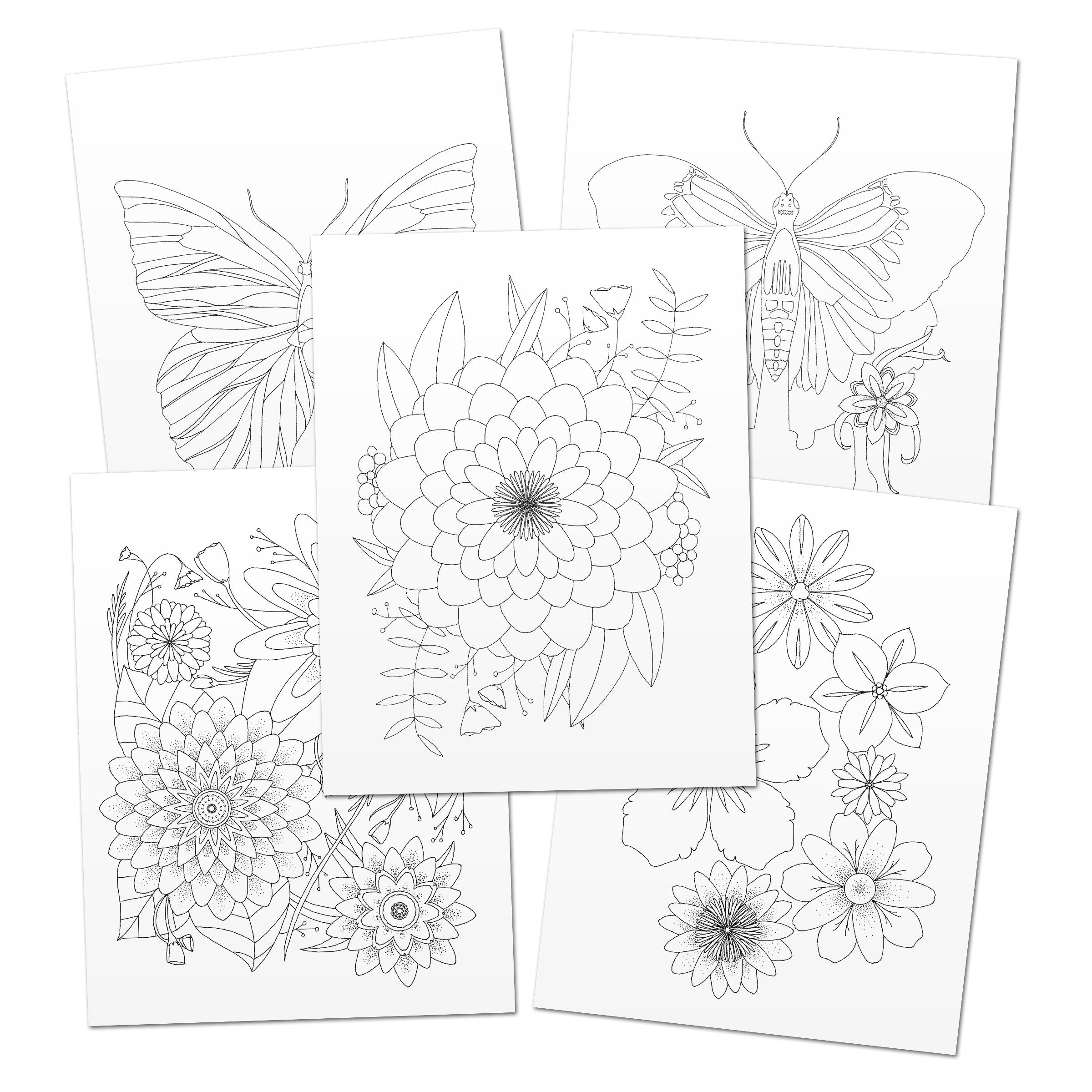 Monthly Adult Coloring Pages Club Printable Haven