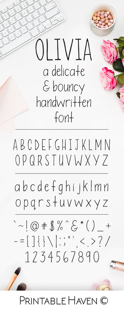 Olivia Handwritten Font by Printable Haven