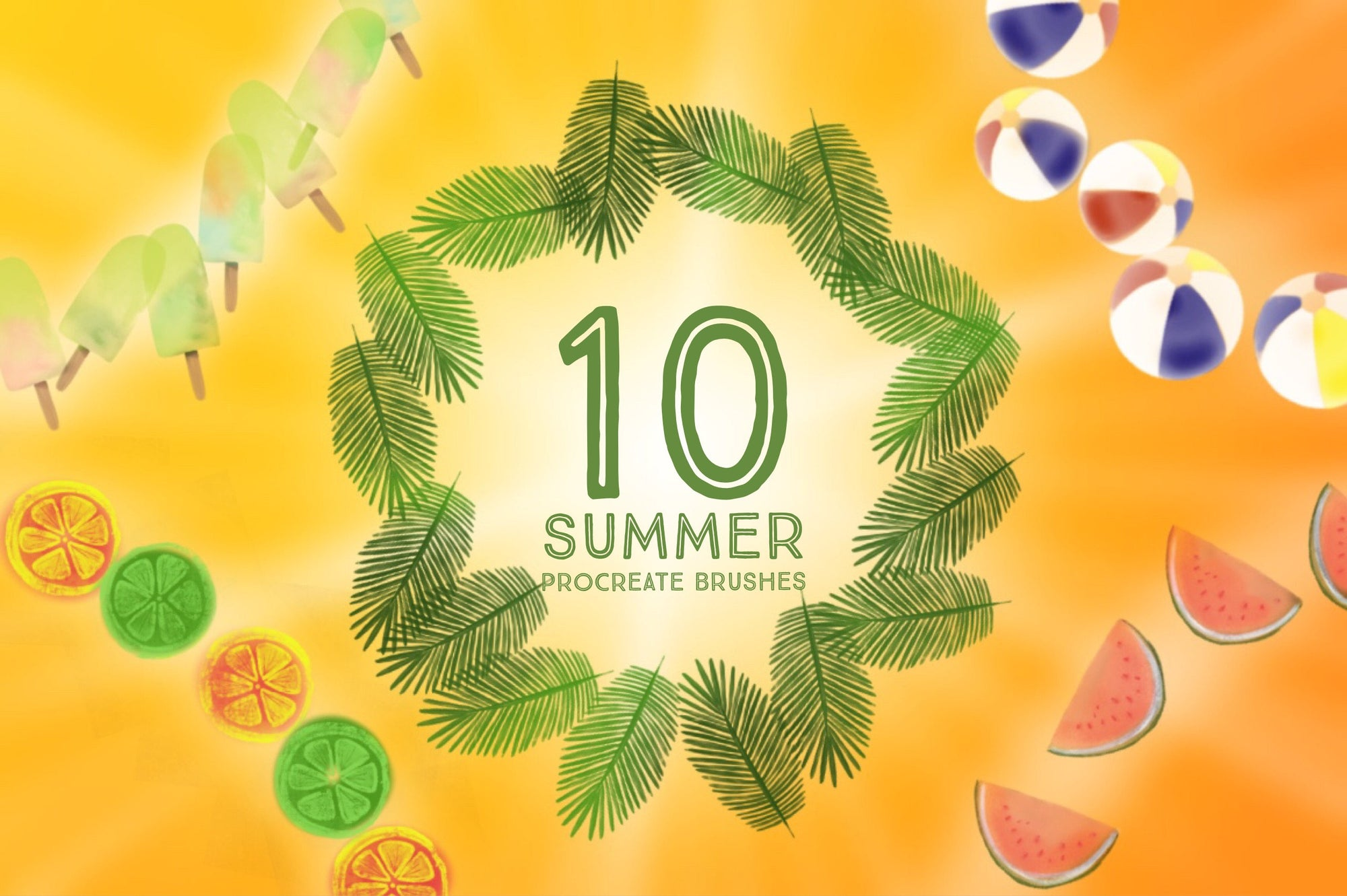 10 Summer Decorative Brushes