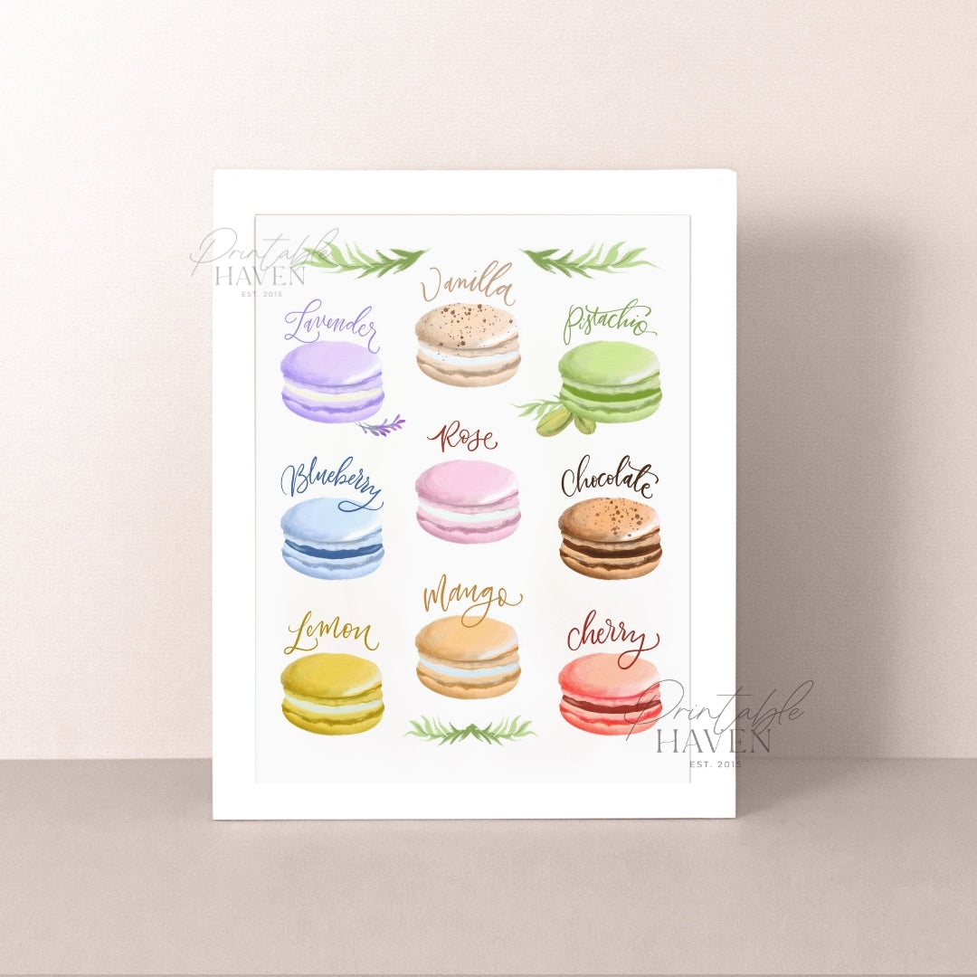 Assorted Macarons Art Print