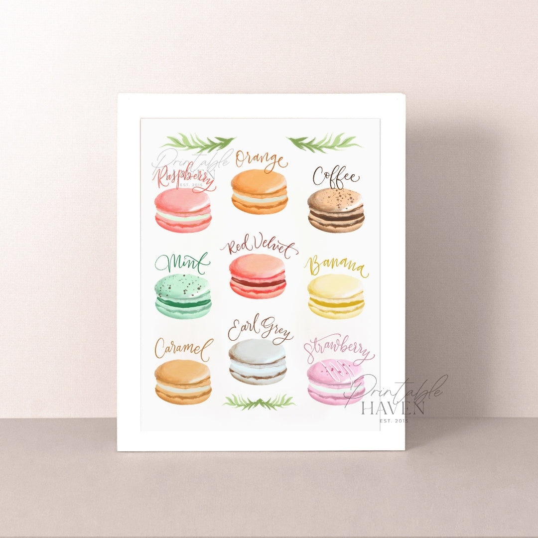 Assorted Macarons II Art Print