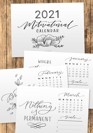 2021 Printable Motivational Calendar