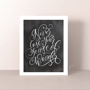 Chalkboard Sense of Wonder Art Print