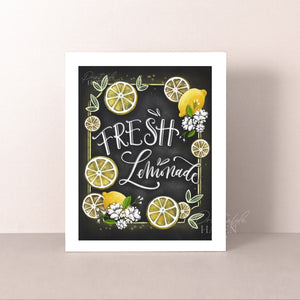 Chalkboard Fresh Lemonade Art Print