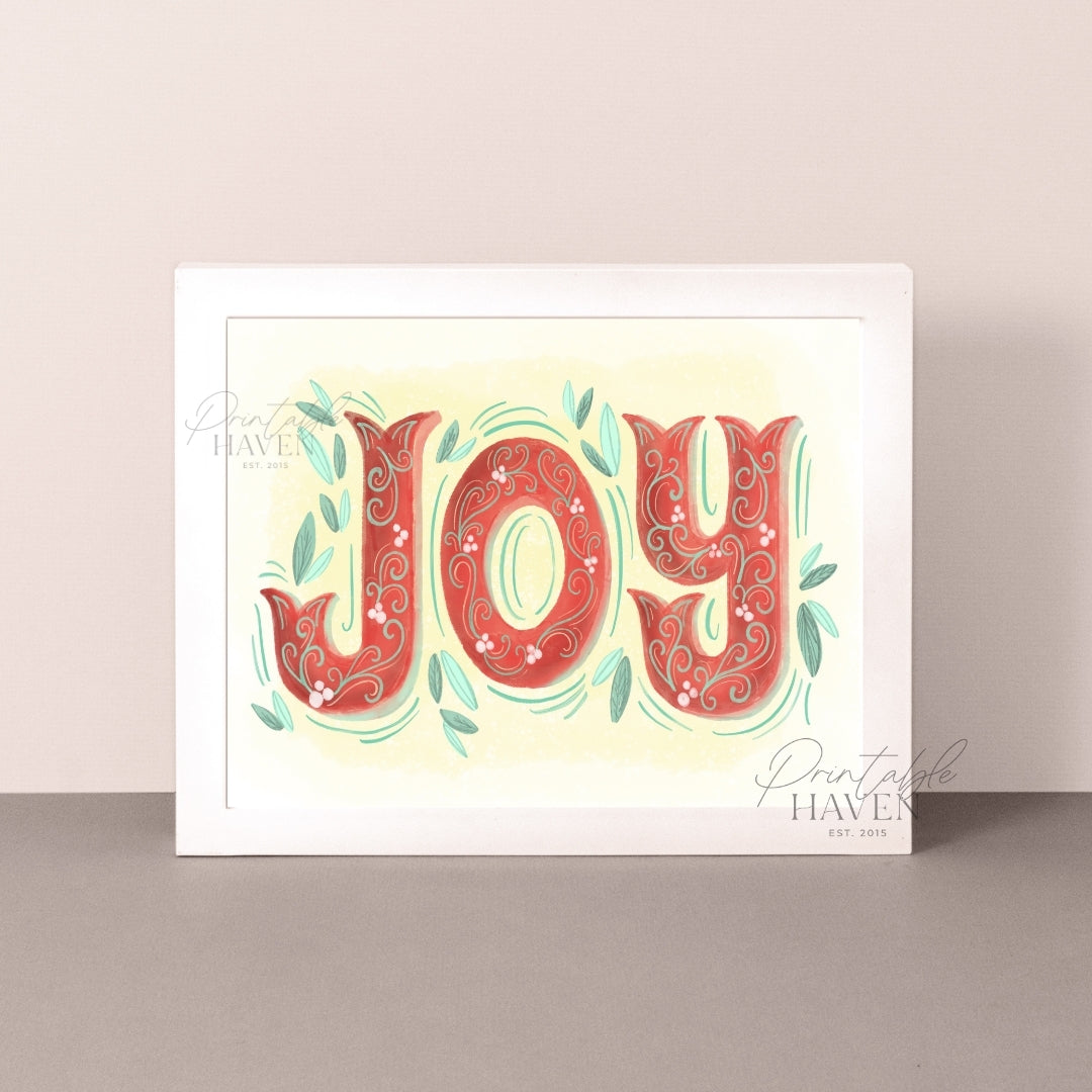 Joy Christmas Art Print