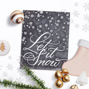 Chalkboard Let it Snow Winter Art Print - Glossy