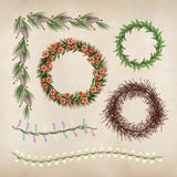 10 Holiday Decorative Brushes - PrintableHaven  - 3
