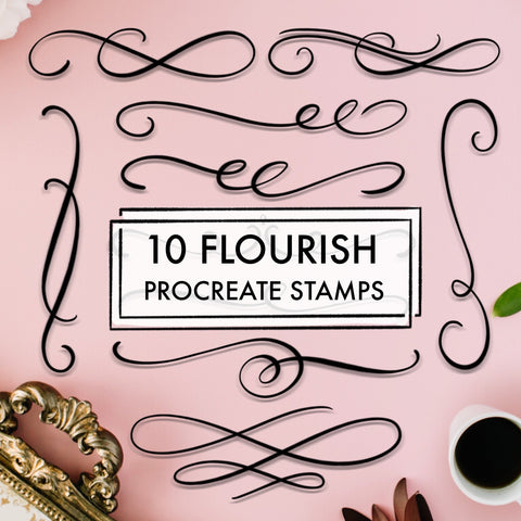 10 Flourish Stamps