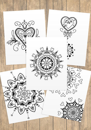 Hearts Coloring Pages - PrintableHaven  - 1
