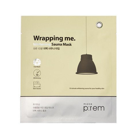 MAKE P:REM Wrapping me. Whitening Sauna Foil Mask (3pcs)