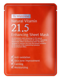 BY WISHTREND Natural Vitamin 21.5 Enhancing Sheet Mask (5pcs) 23g
