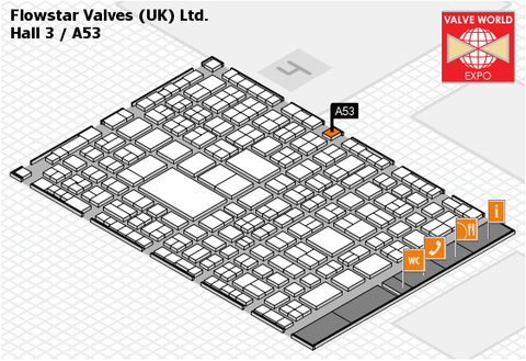 Flowstar Valveworld 2016 - Hall Plan