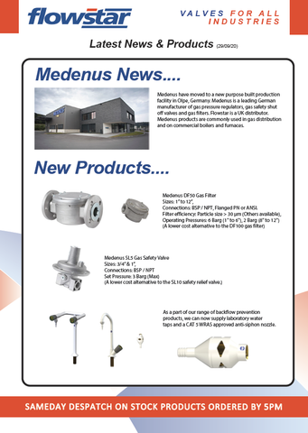 Latest News & Products Flyer - 29/09/20