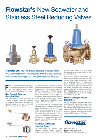 Valve User Magazine - Issue 36 - Berluto Reducing Valves - Full Article
