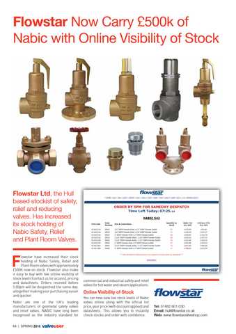 Valve User Magazine - Issue 36 - Nabic Safety Relief Valves - Full Article