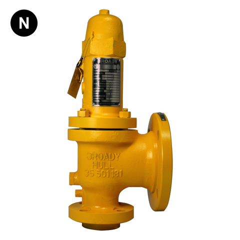 Broady 3500 Carbon Steel Safety Relief Valve (UK Castings) - Flowstar (UK) Limited