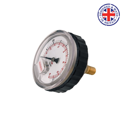 Budenberg 11/15HR Small Dial High Pressure Industrial Service Gauge - Flowstar (UK) Limited - 1