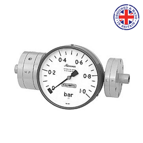 Budenberg 180 Microvar Diaphragm Type Differential Pressure Gauge - Flowstar (UK) Limited - 1