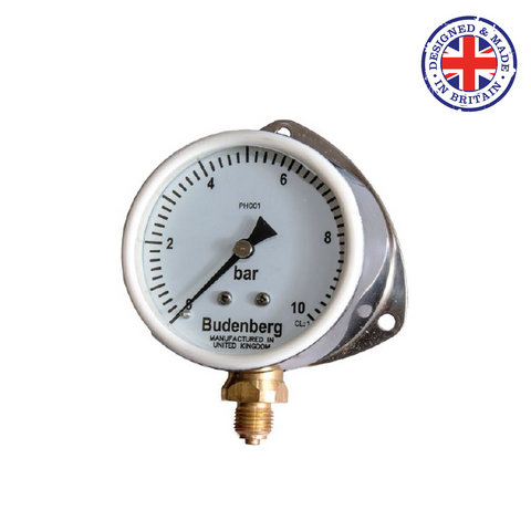 Budenberg 17P, 17B & 17H 80mm Dial Stainless Steel Case Pressure Gauge - Flowstar (UK) Limited - 1