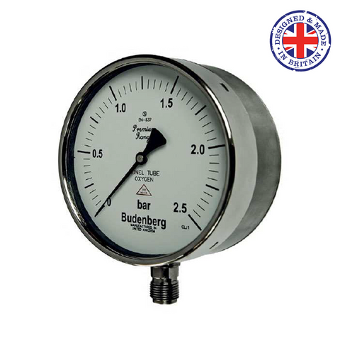Budenberg 950GP Oxygen Duty Pressure Gauge - Flowstar (UK) Limited - 1