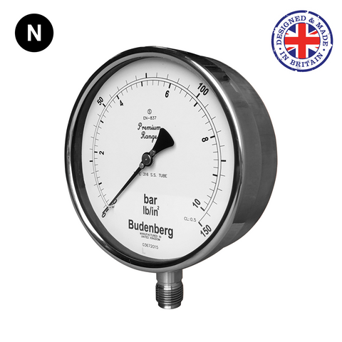 Budenberg 966GP Stainless Steel Pressure Gauge - Flowstar (UK) Limited - 1