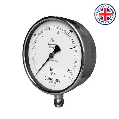 Budenberg 966MGP Monel Wetted Parts Pressure Gauge - Flowstar (UK) Limited - 1