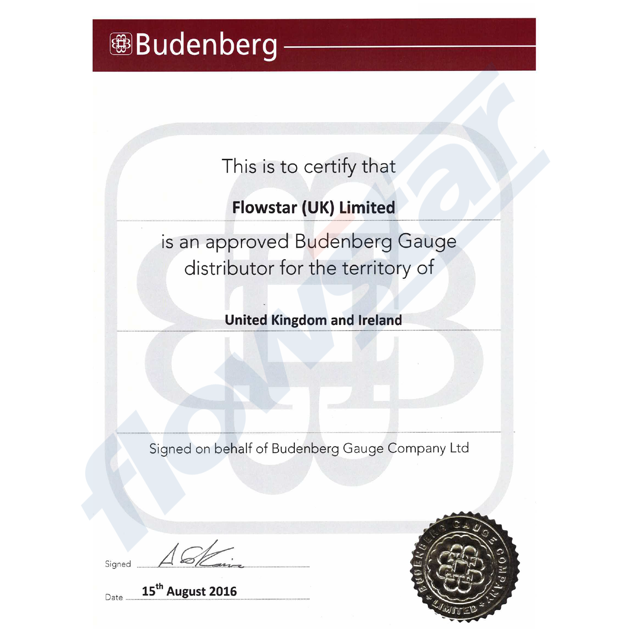 Budenberg 6GM Over Range Protection Valve (Gauge Saver