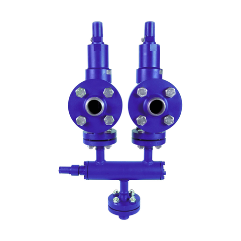 Dual Refrigeration Safety Valves