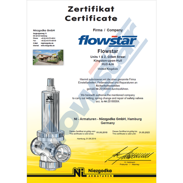 Niezgodka Type 110 Safety Valve – Flowstar (UK) Limited