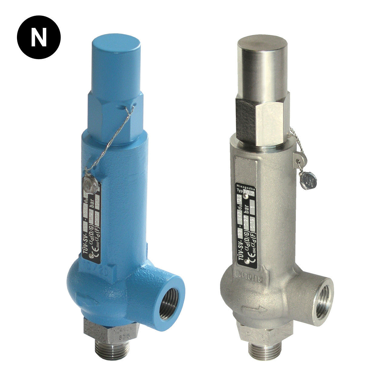 Safety valve with pressure control: types 62