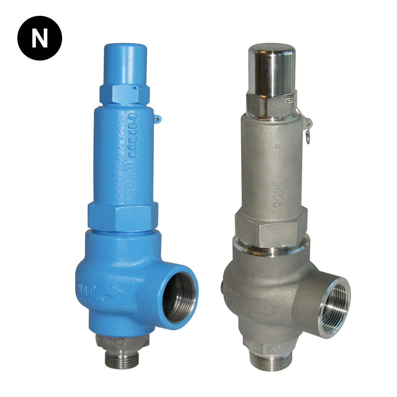 Safety valve with pressure control: types 72