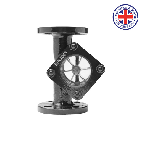 Rhodes 408 Sight Glass with Spinner - UK Manufactured - Flowstar (UK) Limited